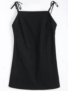 Robe Mini Dos Nu à Bretelle Nouée - Noir M