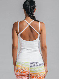 Cami Padded Cross Back Sporty Top - White S