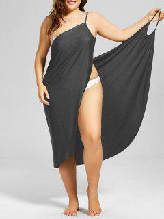 Robe Grande Taille Enveloppante Couverture De Plage - Ral7005 Souris Gris 4xl