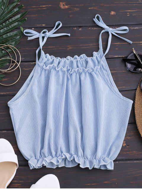 outfits Cropped Tied Straps Striped Crop Top - STRIPE M Mobile