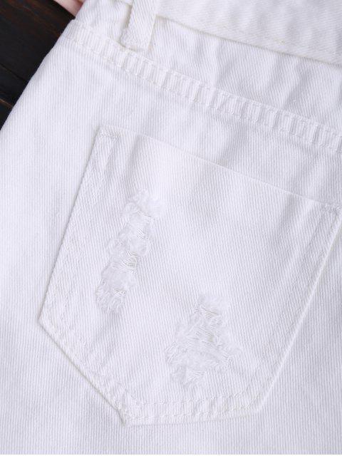 Shorts en daim rasé - Blanc XL Mobile