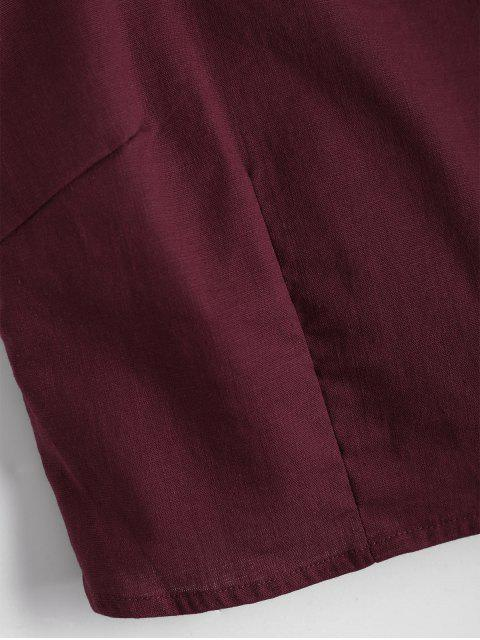 fancy Cut Out Bowknot Cropped Tank Top - WINE RED S Mobile