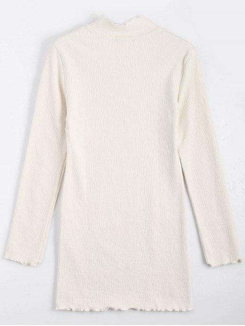Mini robe à manches longues tricotées - Blanc Cassé S Mobile
