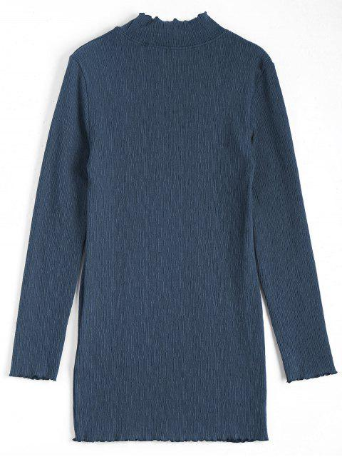 Mini robe à manches longues tricotées - Bleu Cadette S Mobile