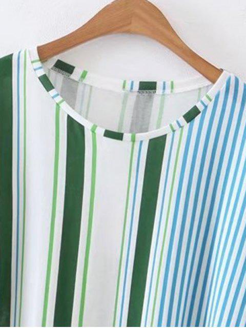 fashion Loose Striped Poplin Top - STRIPE S Mobile