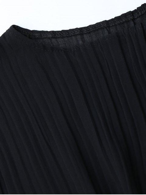 Top plissé avec blocs colorés à rayures Gaucho - Noir TAILLE MOYENNE Mobile