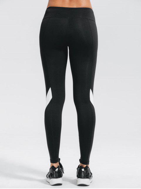 outfit Stretchy Color Block Active Yoga Pants - BLACK M Mobile