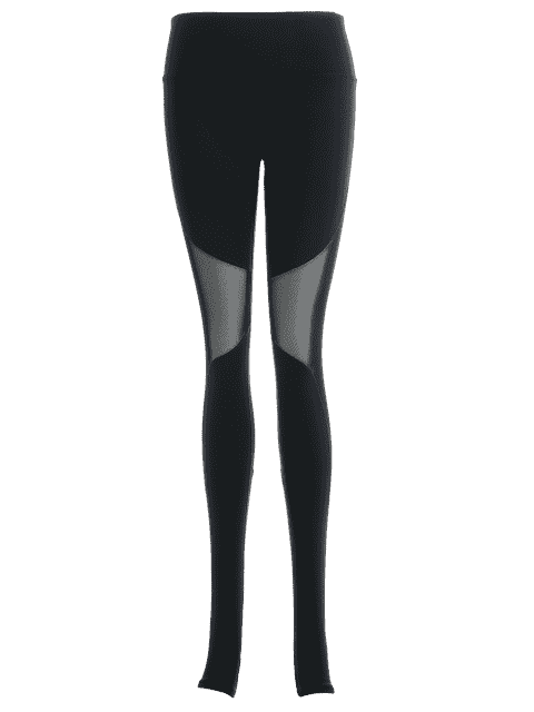 latest Active Mesh Insert Stirrup Leggings - BLACK L Mobile