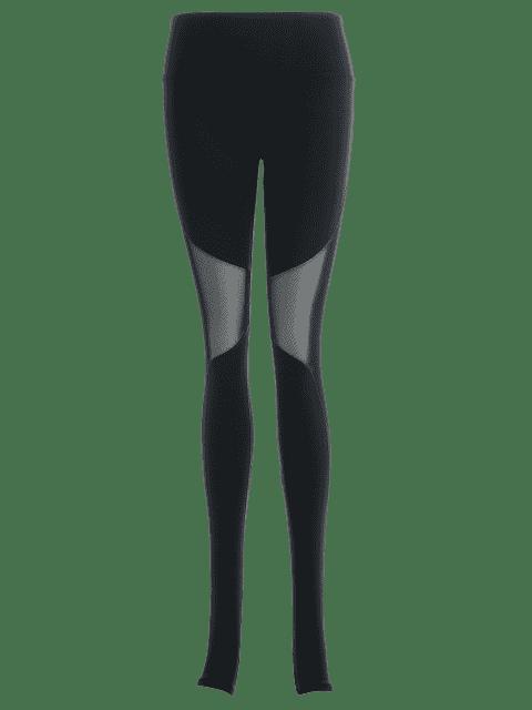 trendy Active Mesh Insert Stirrup Leggings - BLACK M Mobile