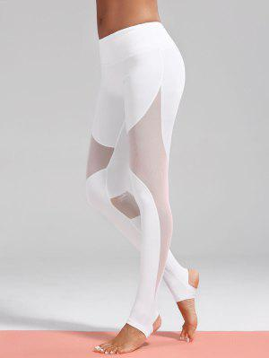 Mesh Insert Stirrup Sporty Leggings - White M