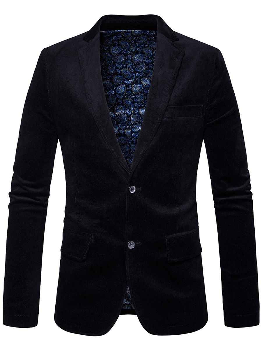 Single Breasted Elbow Patch Corduroy Blazer 216854204