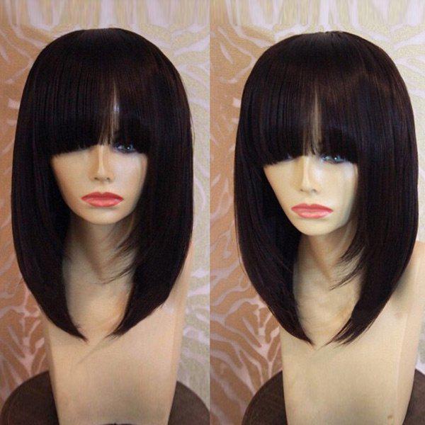 Medium Full Bang Straight Bob Synthetic Wig 216984801