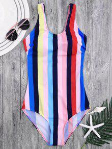 Lace Up Stripes Swimwear - S