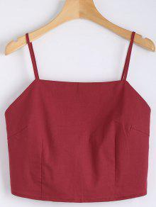 Cut Out Bowknot Cropped Tank Top - Red S