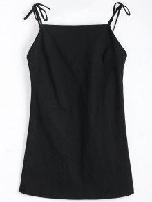 فستان متعادل حزام عارية الظهر مصغر - أسود M