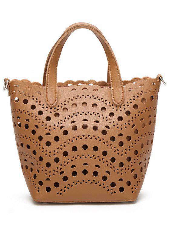 Tagliare la borsa con il sacchetto interno - Marrone