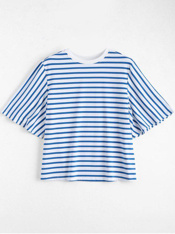 womens Loose Cotton Stripes T-Shirt - STRIPE S