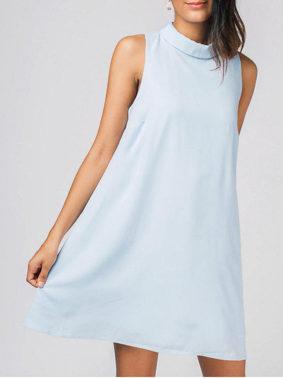 فستان ثقب المفتاح مصغر شيفون - الضوء الأزرق S