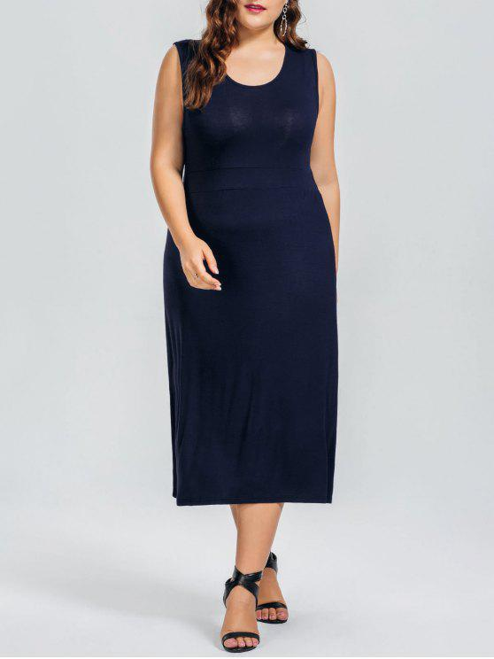 Robe Décontractée Taille Plus - Bleu Violet 4XL