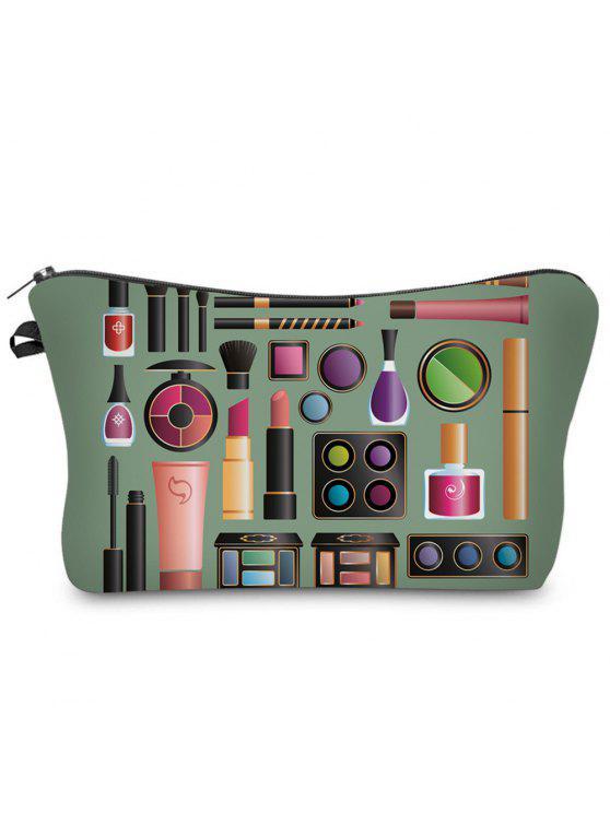 Sac à maquillage en embrayage en cosmétique 3D - armée verte