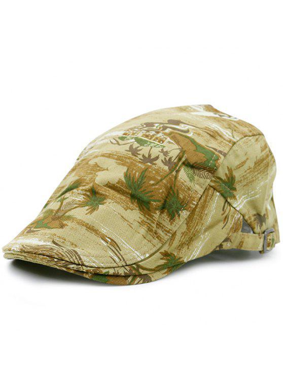 شاطئ شجرة جوز الهند نمط قبعة نيوزبوي - الأصفر