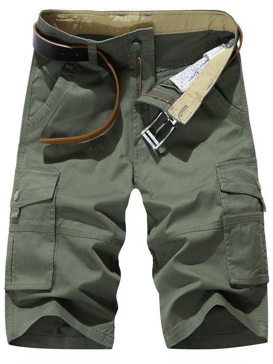 متعدد جيب السراويل تشينو البضائع - الجيش الأخضر 32