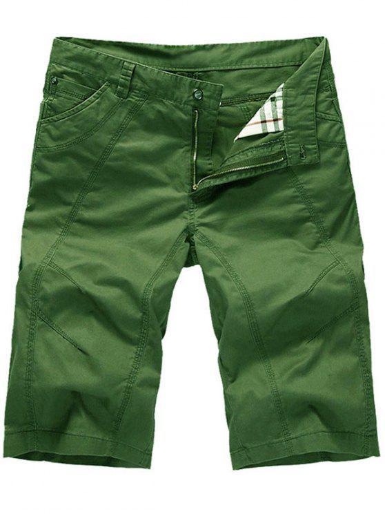 سستة عارضة السراويل تشينو ضئيلة - أخضر 34