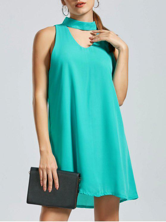 بلا أكمام البسيطة اللباس المختنق - أخضر M