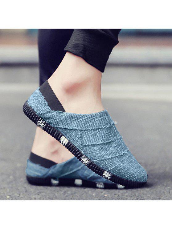 حذاء كاجوال من الكتان سهل الارتداء - الضوء الأزرق 42