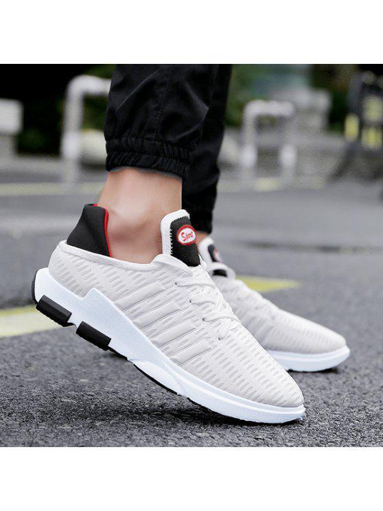 تنفس شبكة التعادل يصل أحذية رياضية - أبيض 43