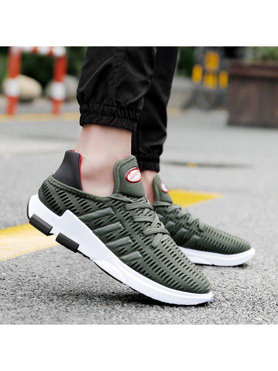 تنفس شبكة التعادل يصل أحذية رياضية - الجيش الأخضر 41