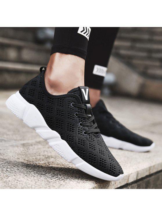 تنفس التعادل يصل شبكة أحذية رياضية - أسود 40