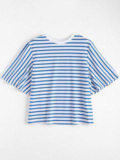 Loose Cotton Stripes T-Shirt - Stripe M