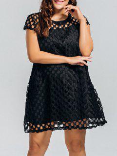 Lace Plus Size Cut Out Dress - Black 3xl