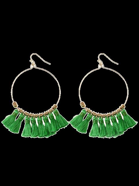 Boucles d'oreilles en gomme - Vert  Mobile