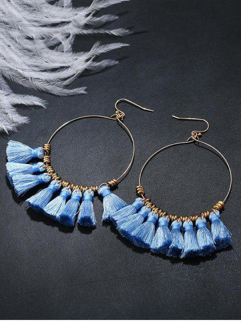 Boucles d'oreilles en gomme - Bleu  Mobile