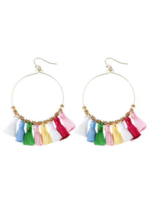 Boucles d'oreilles en gomme - Multicolore  Mobile