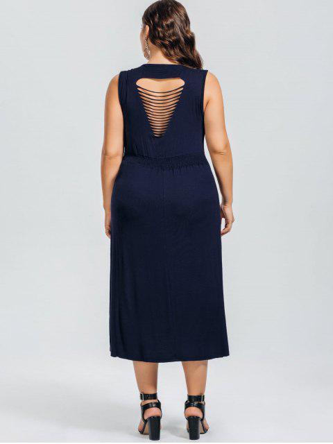 Robe Décontractée Taille Plus - Bleu Violet 3XL Mobile