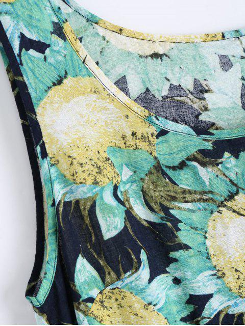 Robe sans manches à imprimé floral et sans manches - Floral XL Mobile