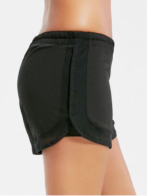 Shorts à coulisse élastique à mailles - Noir M Mobile