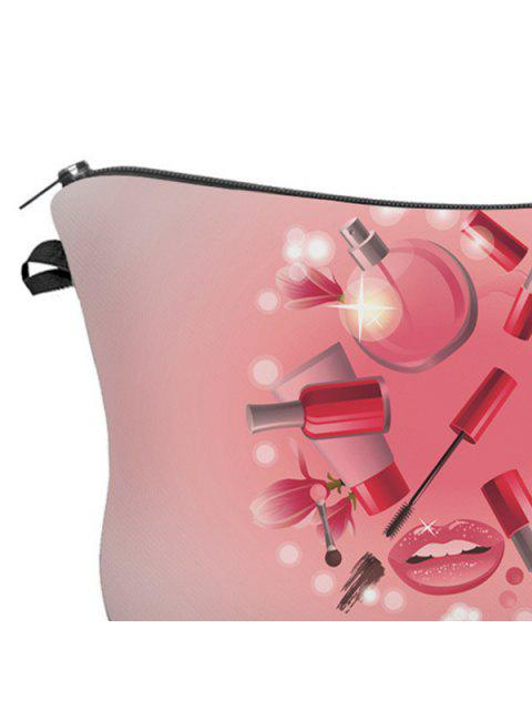 buy 3D Cosmetics Print Clutch Makeup Bag - PINK  Mobile
