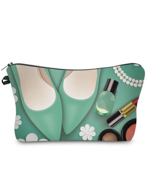 3D Kosmetik Druck Clutch Make-up Tasche - Grün  Mobile