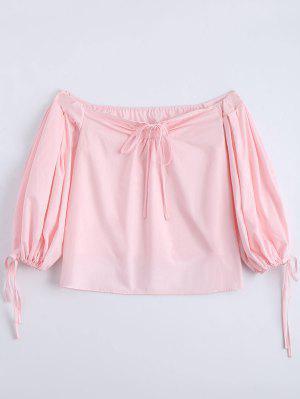 Off The Shoulder Self Tie Blusa Lisa - Rosa S