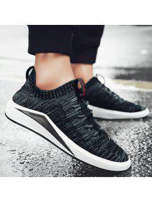 شبكة تنفس كتلة اللون عارضة الأحذية - أسود 42