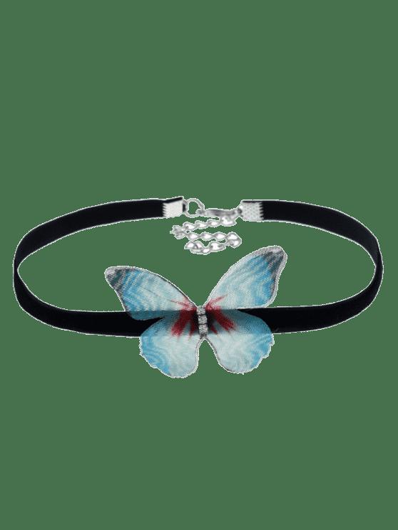 Collar embellecido del ahogador de la mariposa - Verde