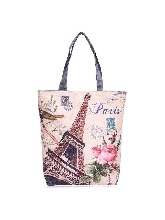 outfits Canvas Painted Shoulder Bag - PALOMINO
