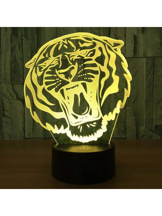 3d النمر شكل الصمام تغيير لون الديكور ليلة ضوء - شفاف