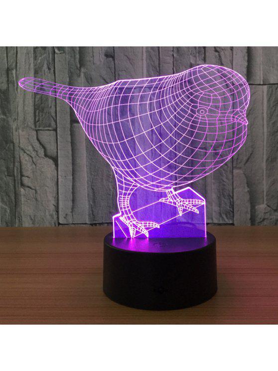 3d الطيور شكل اللون تغيير اللمس ليلة الخفيفة - شفاف