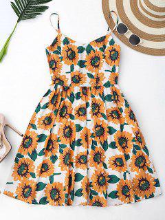 Floral Hollow Out Criss Cross Mini Dress - White Xl