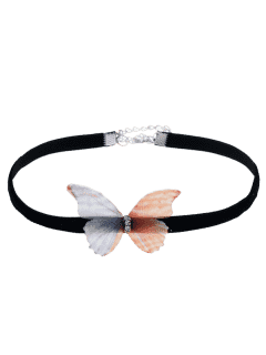 Embellished Butterfly Choker Necklace